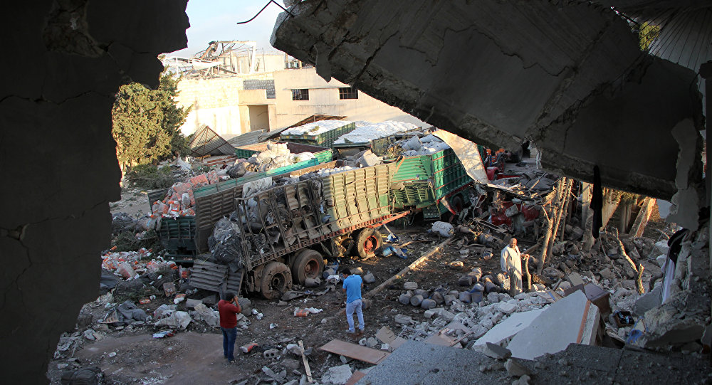Convoi frappé en Syrie