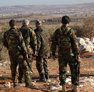 Soldats de l'armée syrienne à Deir ez-Zor. Archive photo