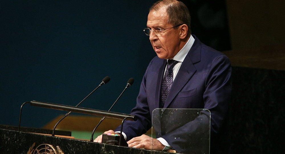 Sergueï Lavrov du haut de la tribune de l'Assemblée générale de l'Onu
