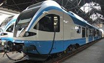 Des trains de la compagnie ferroviaire algérienne SNTF