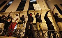 Des manifestants de Charlotte