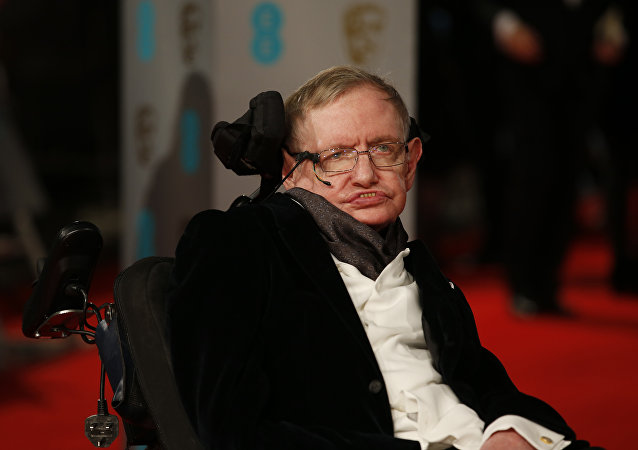 Le scientifique britannique Stephen Hawking, le 8 févirier 2015