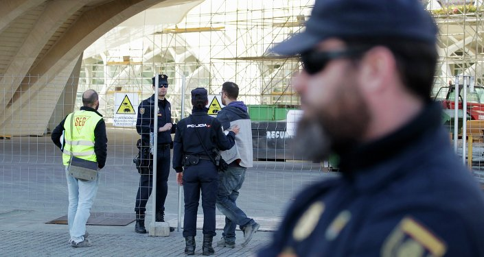 police espagnole, image d'illustration