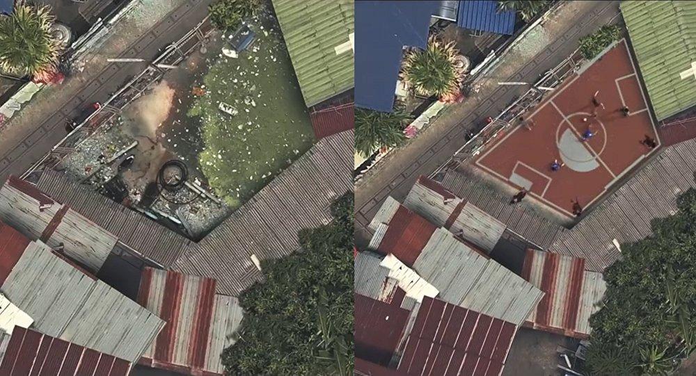 En Thaïlande, les espaces poubelles deviennent des terrains de foot