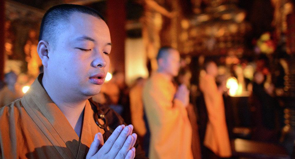 Prière bouddhiste