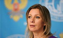 Le porte-parole du ministère russe des Affaires étrangères Maria Zakharova