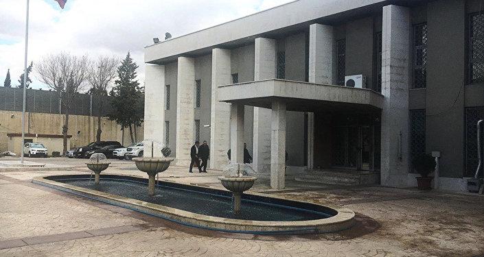 L'ambassade russe à Damas