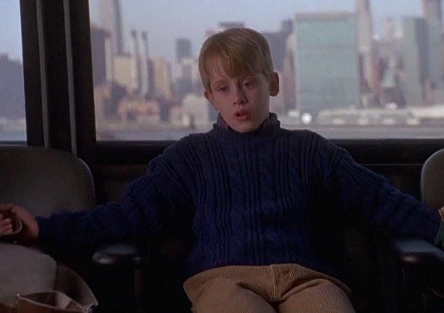 Scène du filme Maman, j'ai encore raté l'avion
