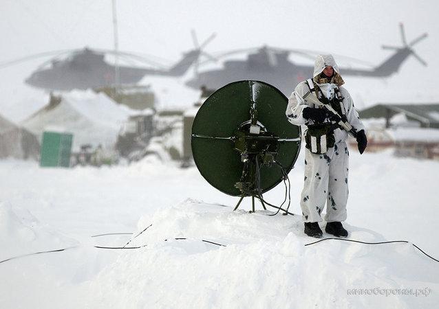 Les troupes arctiques russes