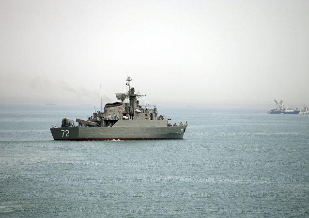 Un navire de guerre iranien