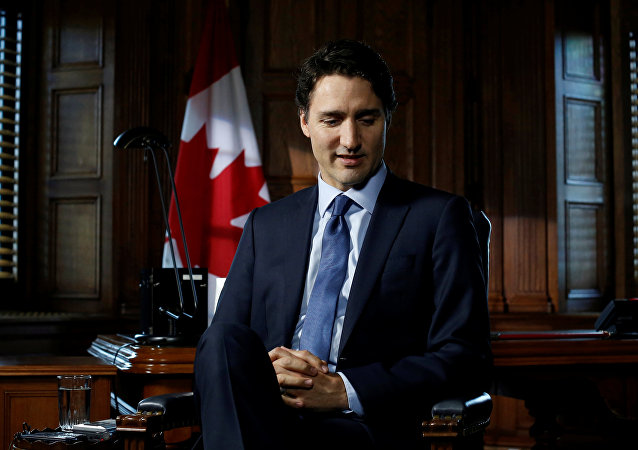 Canada's Prime Minister Justin Trudeau pauses before the start of an interview with Reuters on Parliament Hill in Ottawa, Ontario, Canada, May 19, 2016.