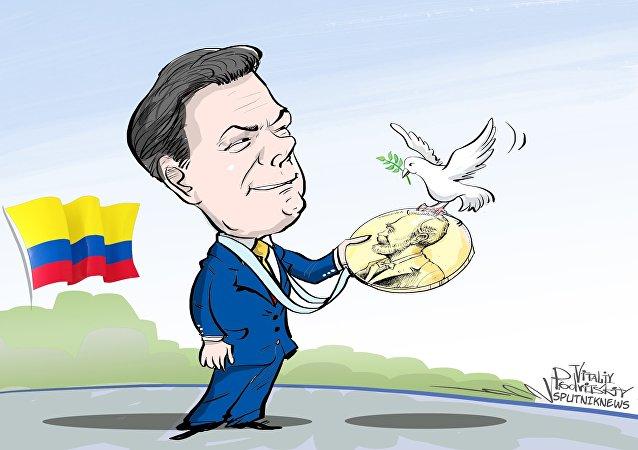 Le Nobel de la paix attribué au président colombien Santos