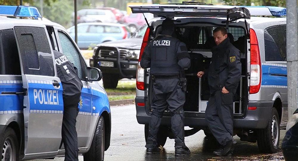 Policiers à Chemnitz
