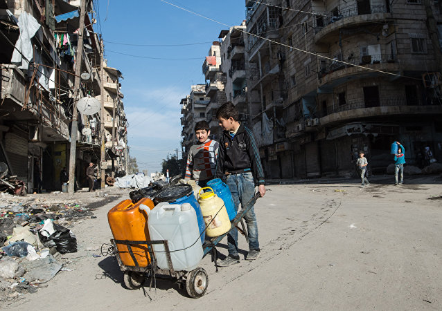 Des habitants d'Alep