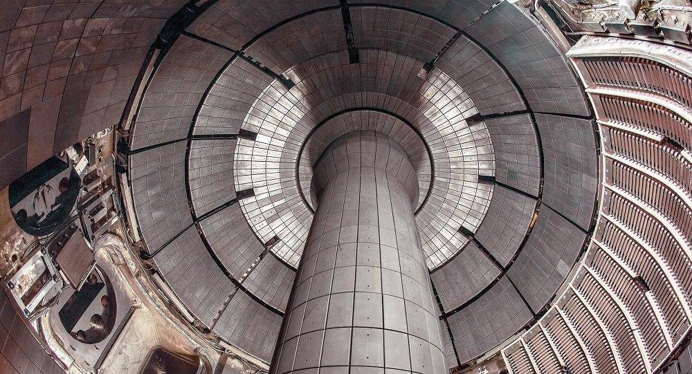 Vue intérieure du Tokamak NSTX-U