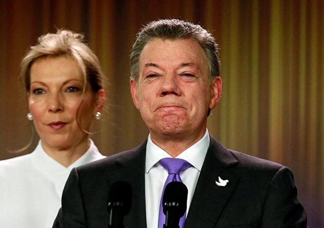 Le président colombien Juan Manuel Santos, prix Nobel de la paix