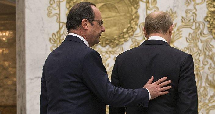 François Hollande et Vladimir Poutine. Archive photo