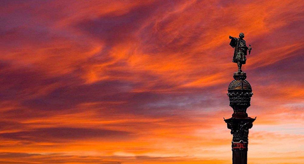 Le monument de Cristophe Colomb à Barcelone