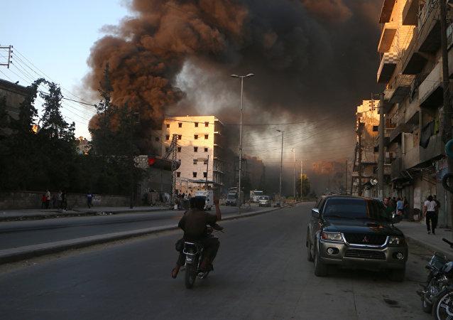 Bombardements à Alep