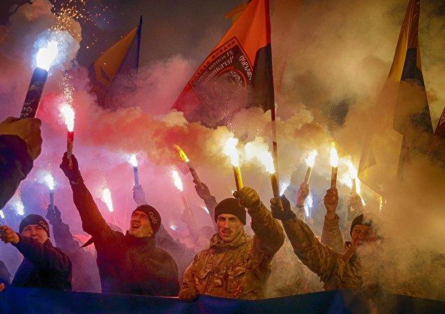 Marche de nationalistes à Kiev