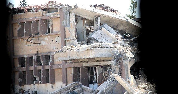 La ville d'Alep en ruines