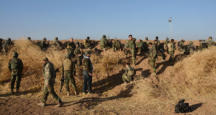 Des Peshmergas irakiens près de Mossoul