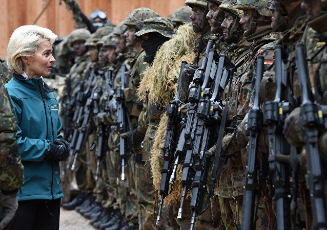 La ministre allemande de la Défense Ursula von der Leyen