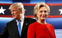 Le républicain Donald Trump et la démocrate Hillary Clinton