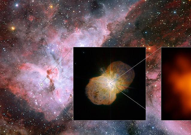 Vue détaillée du système Eta Carinae