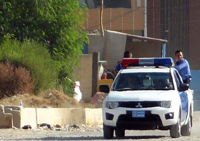 Iraqi police deploy in the southern Domiz neighbourhood of Kirkuk on October 21, 2016, after jihadist gunmen attacked the city.