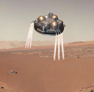 Atterrissage sur Mars (vue d'artiste).