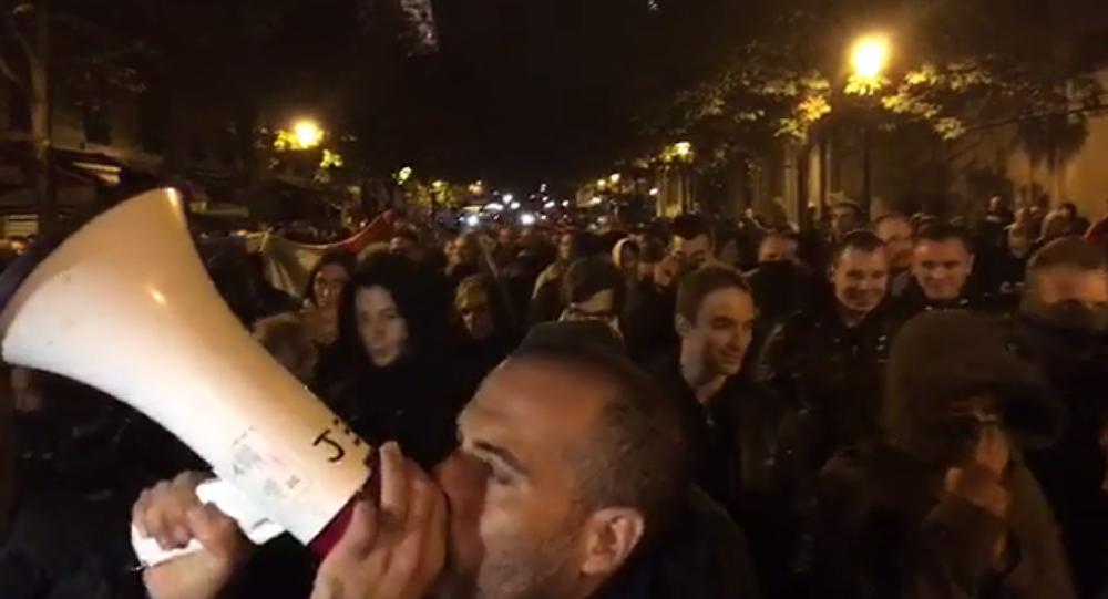 Manifestation des policiers à Paris