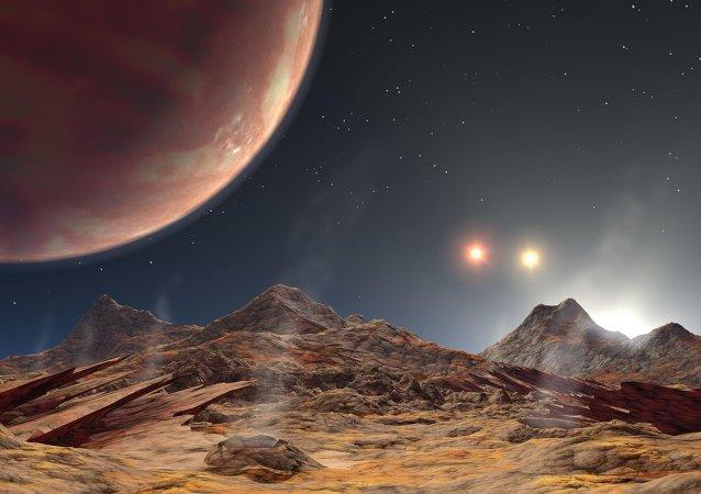 Une exoplanète vue par un artiste peintre