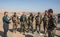 Militants assyriens lors de l'opération de libération de Mossoul