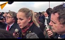 Le Pen à la manifestation des policiers à Paris