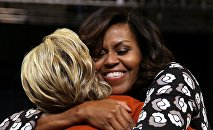 Michelle Obama et Hillary Clinton