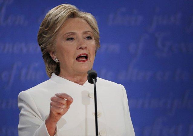 Hillary Clinton lors des débats présidentiels