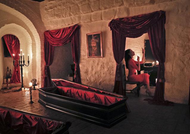 manoir de Dracula en Transylvanie