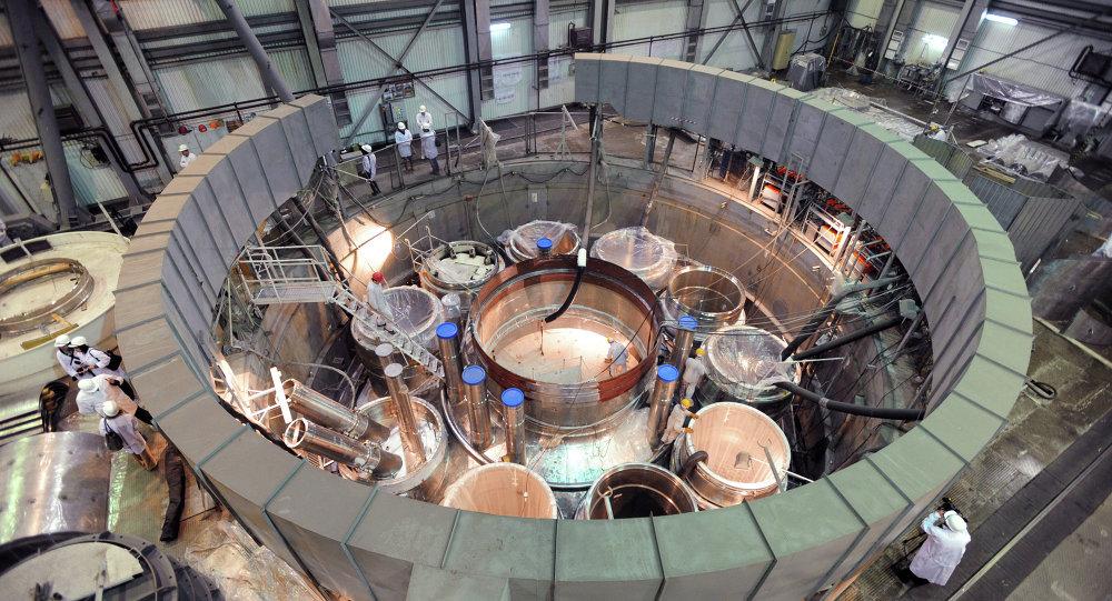 L'assemblage du réacteur BN-800 à Beloïarsk