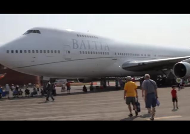 Un des deux Boeing-747 de Baltic AirLines