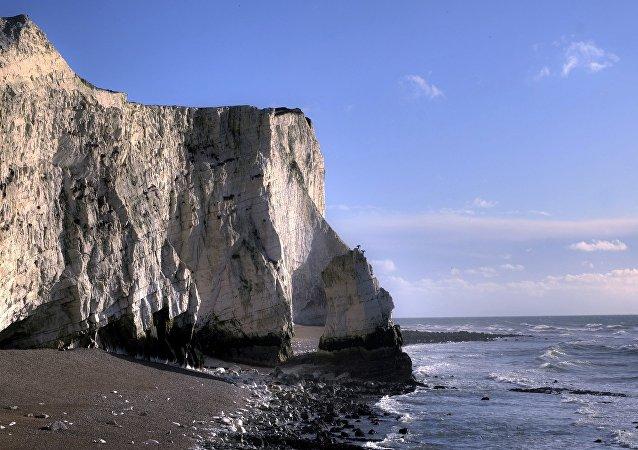 Les fameux rochers blancs du sud de l'Angleterre s'effondrent