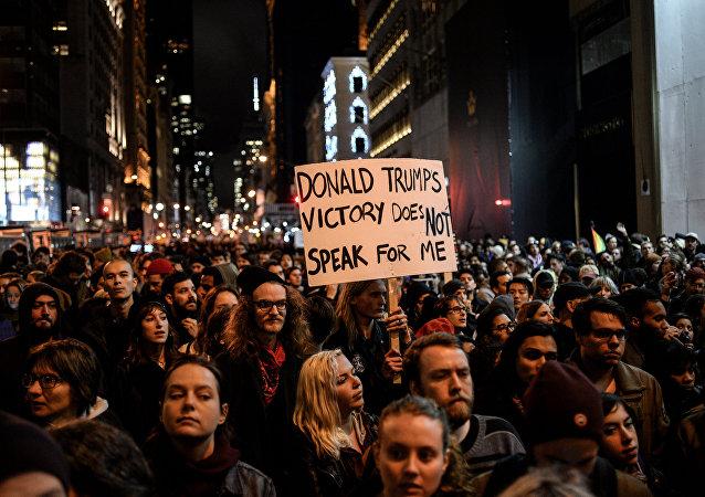Protestations contre Donald Trump