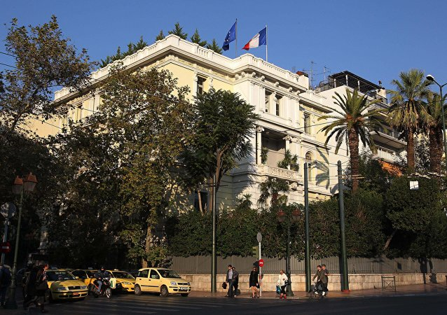 Ambassade de France à Athènes. Archive photo