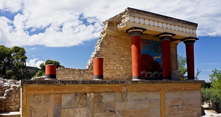 Ruines du palais de Cnossos. Civilisation minoenne