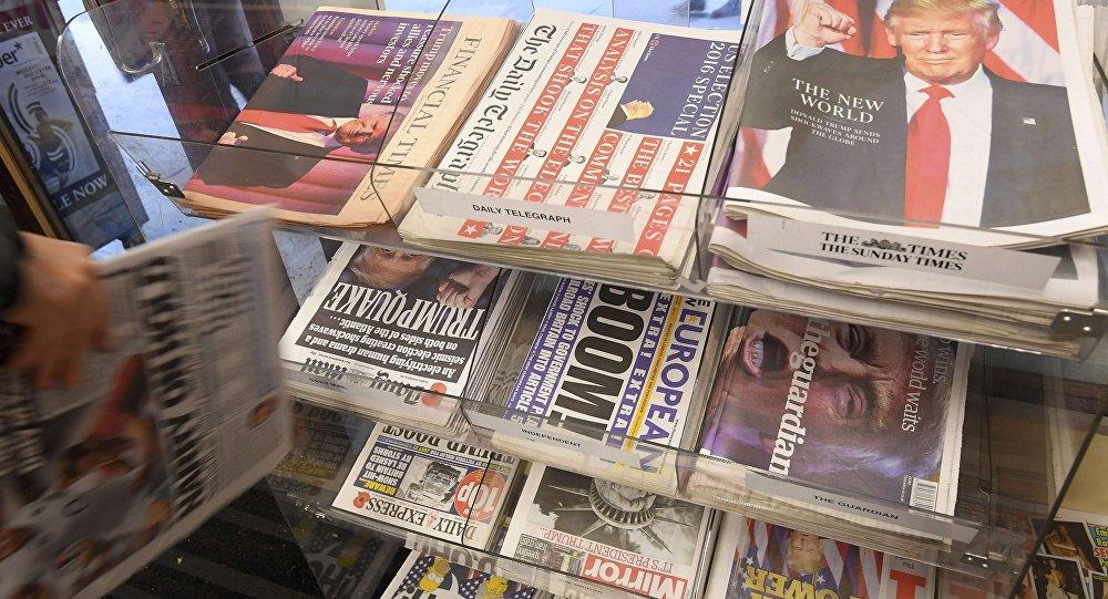Un kiosque à journaux