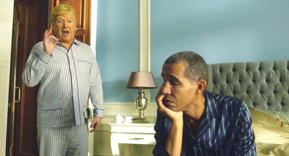 Quand Trump et Obama se réveillent dans le même lit (vidéo)