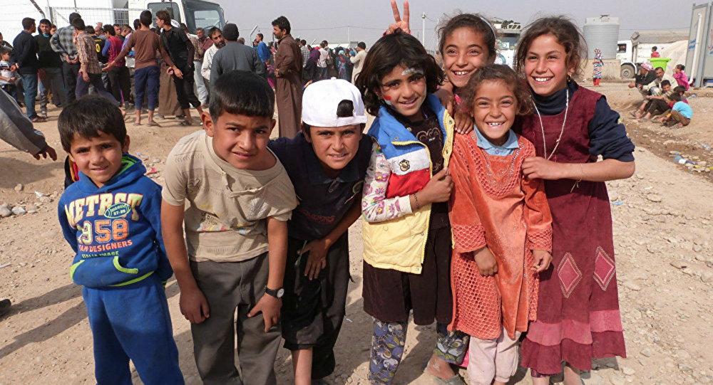 Des réfugiés de Mossoul
