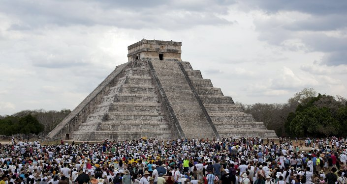 Sur le site archéologique de Chichen Itza dans la péninsule du Yucatan