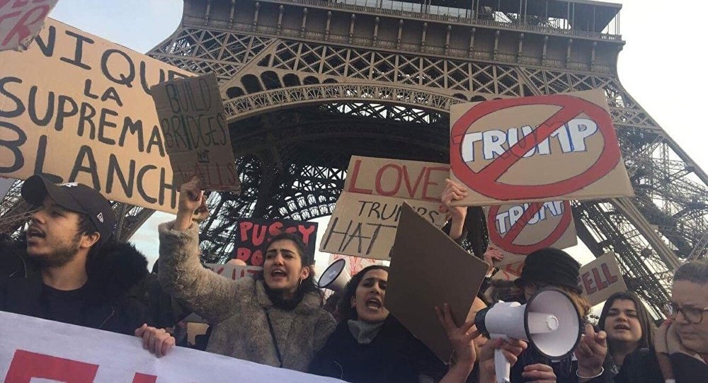Manifestation anti-Trump à Paris