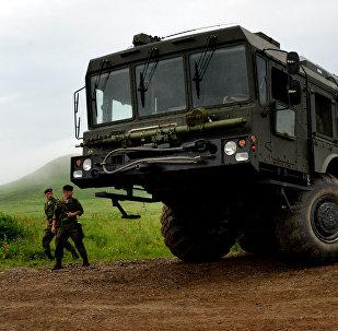 Systèmes de missiles de défense côtière russe K-300P Bastion-P